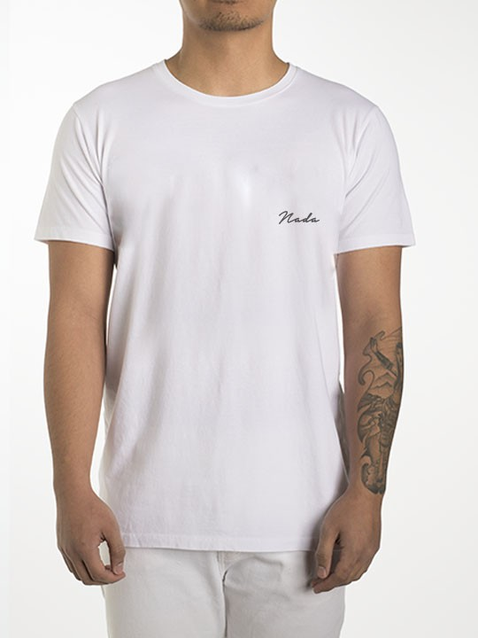 T-Shirts - nada font small embroidered